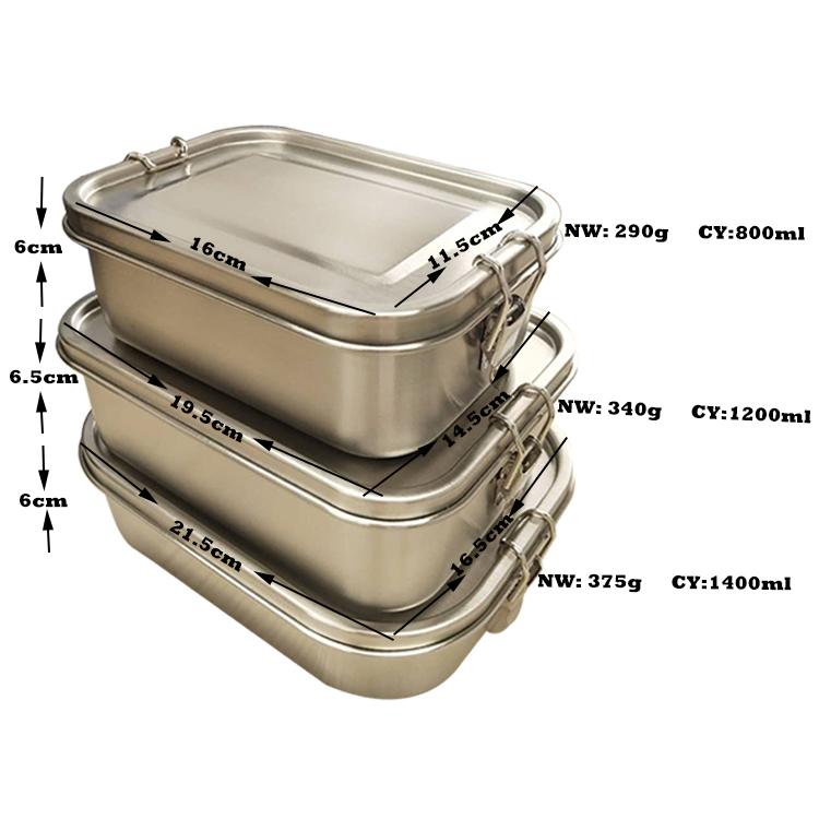 方形饭盒带尺寸图